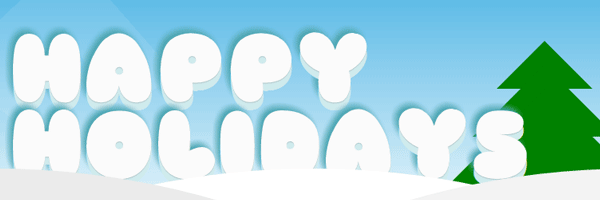 Happy holidays - CSS3 experiment