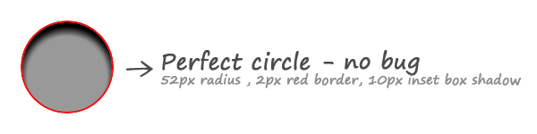 CSS circle radius inset shadow
