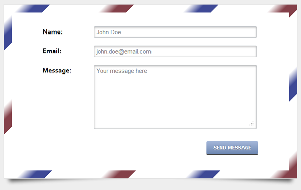 CSS3 contact form preview