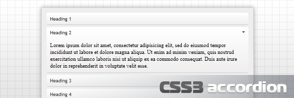 CSS3 accordion