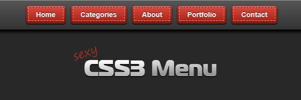 Sexy CSS3 menu - Catalin Red
