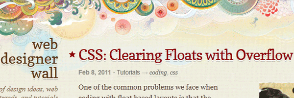 CSS clearing floats with overflow