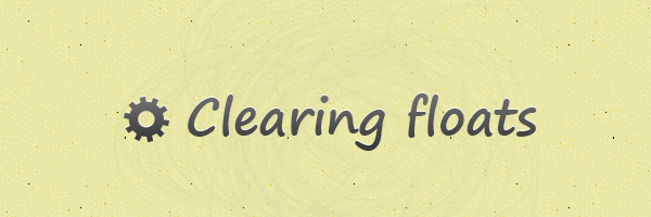 Clearing floats