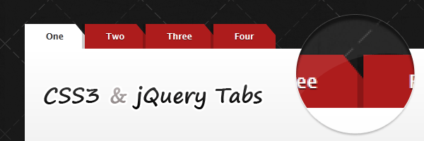 CSS3 and jQuery tabs with tucked corners