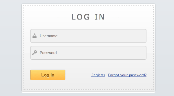 Slick login form with HTML5 & CSS3