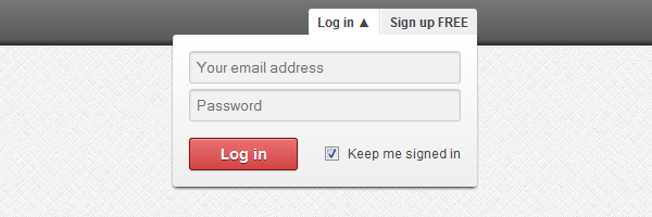 Simple and effective dropdown login box