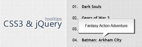 CSS3 and jQuery tooltips