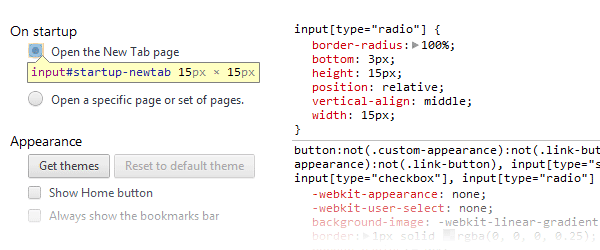 Chrome's form elements example