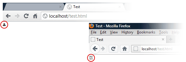 The font icon loads successfully on Chrome but not on Firefox