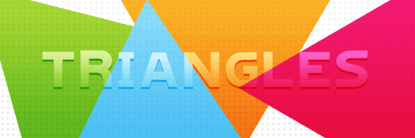 Colored triangles in HTML, SVG and CSS