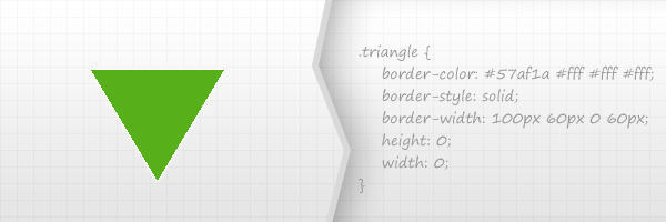 CSS green border triangle